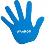 hand blauw